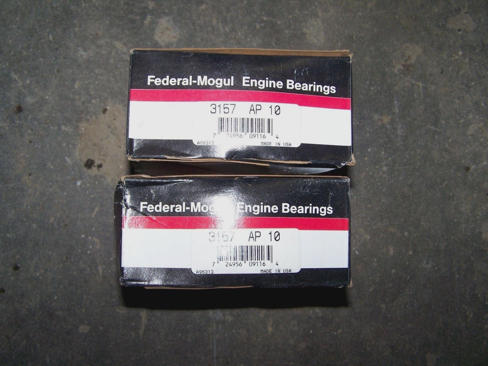 FEDERAL MOGUL Engine Bearings 3157 AP 10 3157AP10 2 Boxes