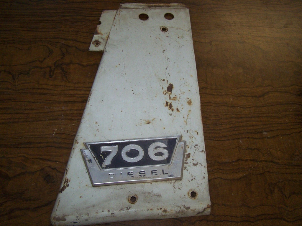 International 706 Diesel  RH Radiator Side Cover Panel W/Emblem