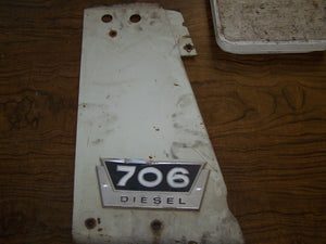 International 706 Diesel LH  Radiator Side Cover Panel W/Emblem