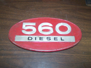 International 560 Diesel Aluminum Oval Emblem