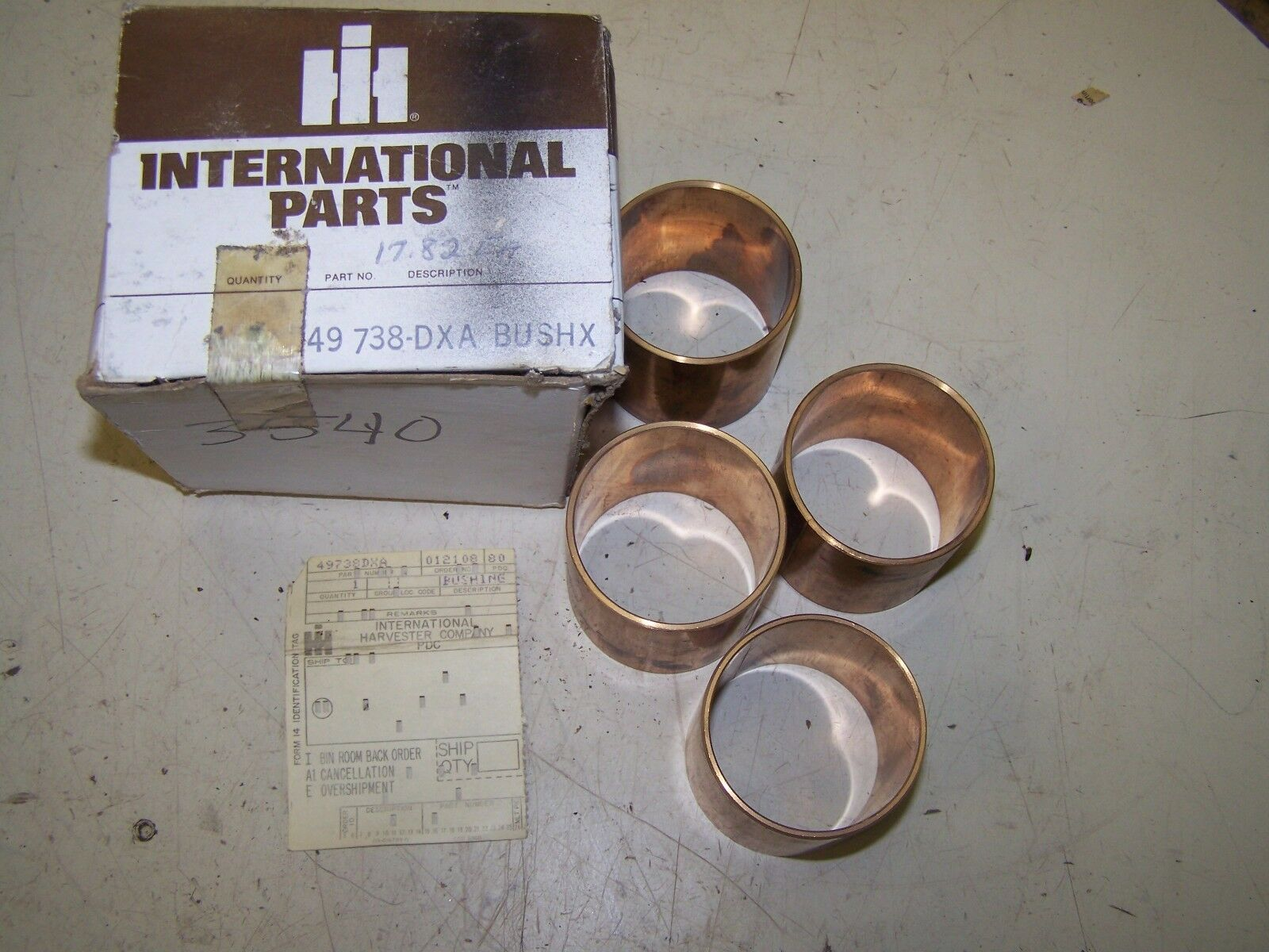 International Copper Bushings set of 4 #49738-DXA