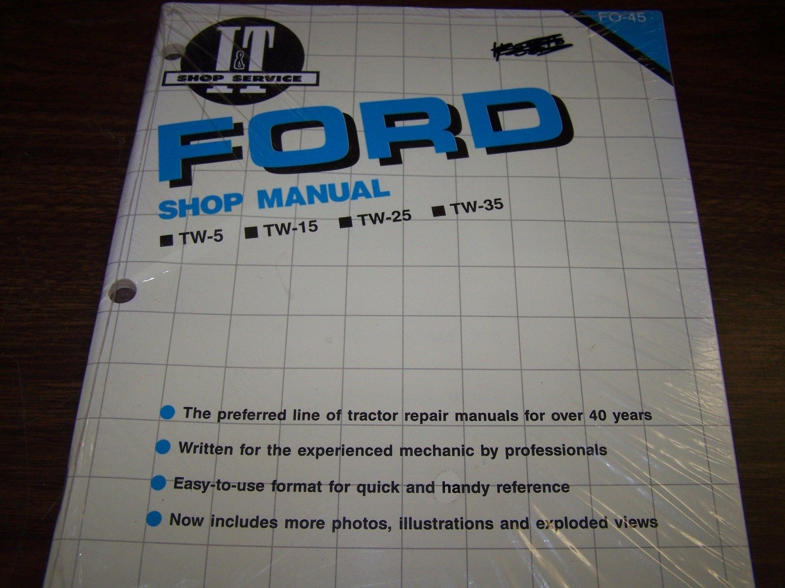 Ford New Holland Shop Manual  TW15, TW25, TW35, TW5-A-SMFO45