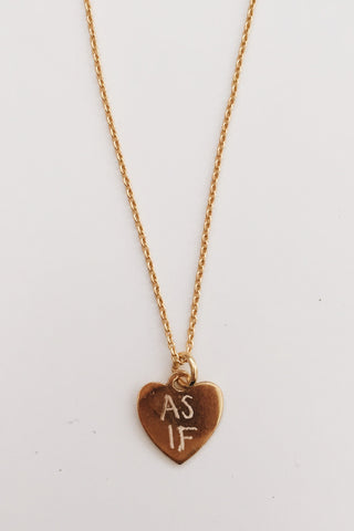 Custom Initial Heart of Gold Necklace (A-Z)