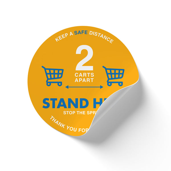 Floor Decal - Stand Here Yellow