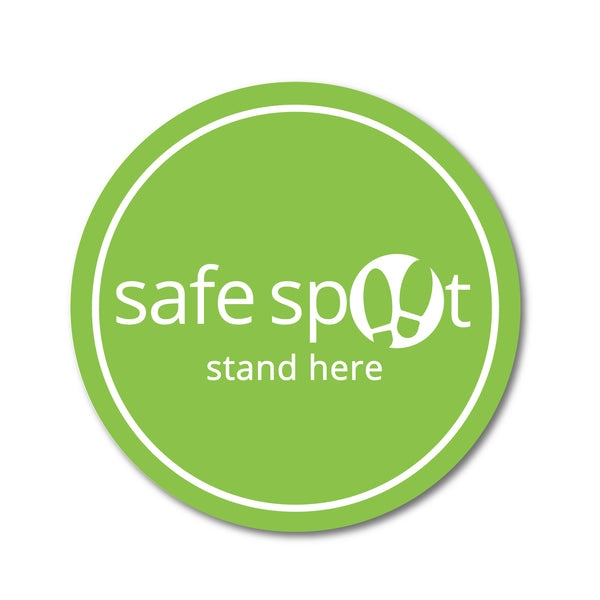 Floor Decal - Safe Spot Stand Here