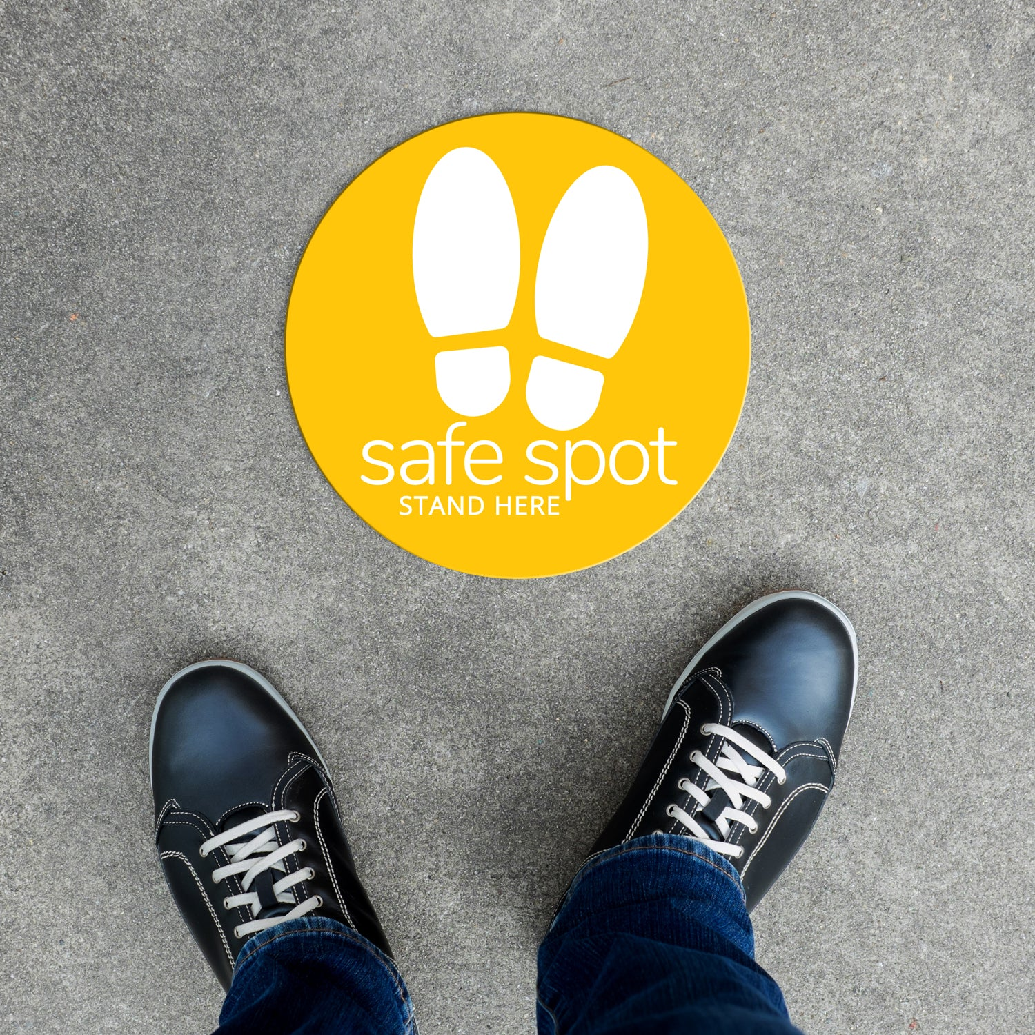Floor Decal - Safe Spot in Yellow