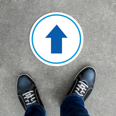 Floor Decal - Blue Arrow
