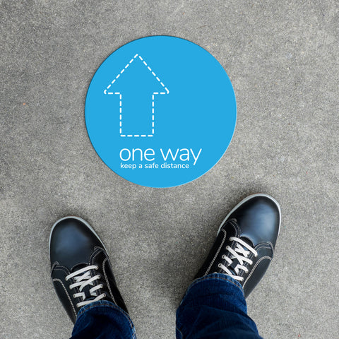 Floor Decal - One Way Outline