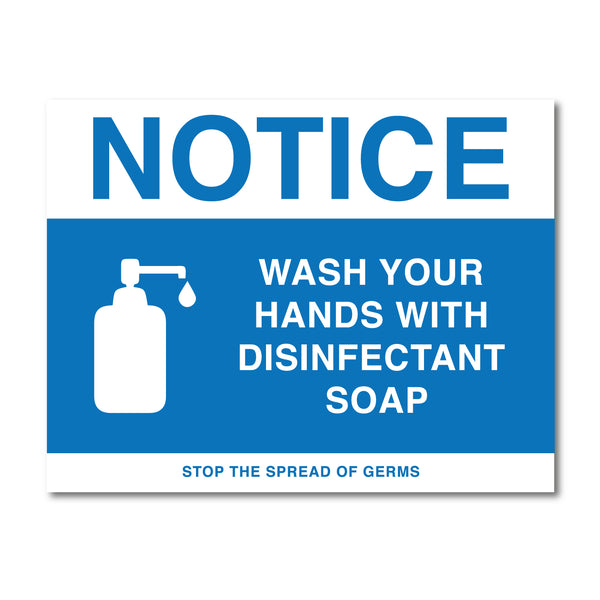 Hand Washing Notice Sign