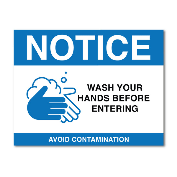 Hand Washing Notice Sign V2