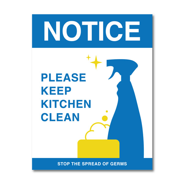 Keep Kitchen Clean Sign