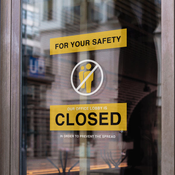 Closed Office Sign
