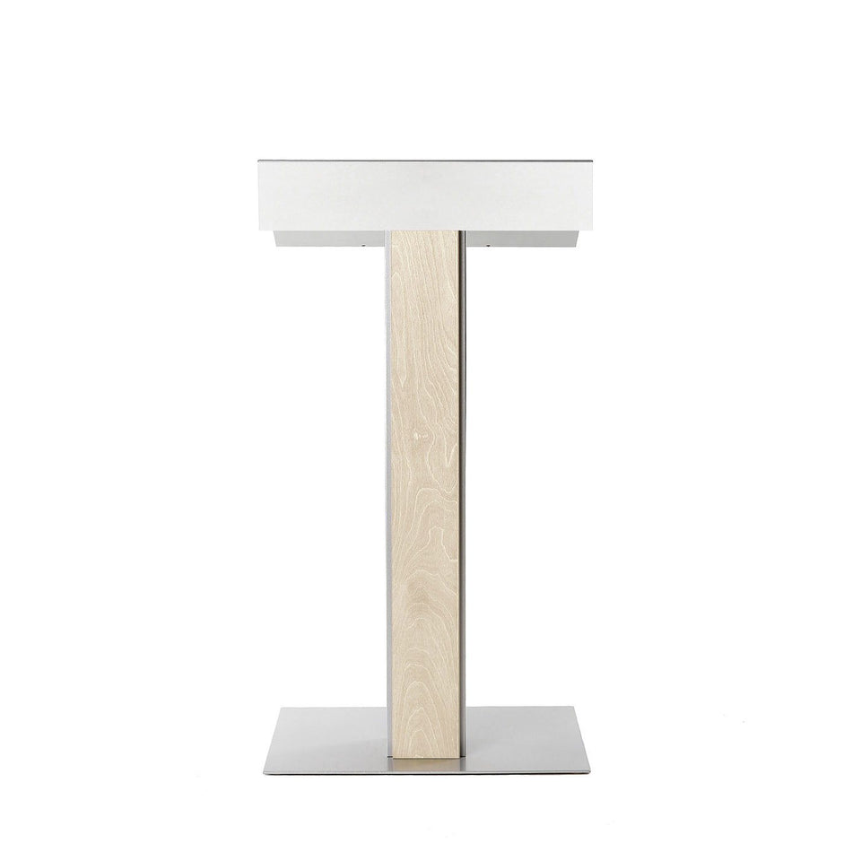 Y55 lectern / podium from Urbann Products - Unfinished - front view