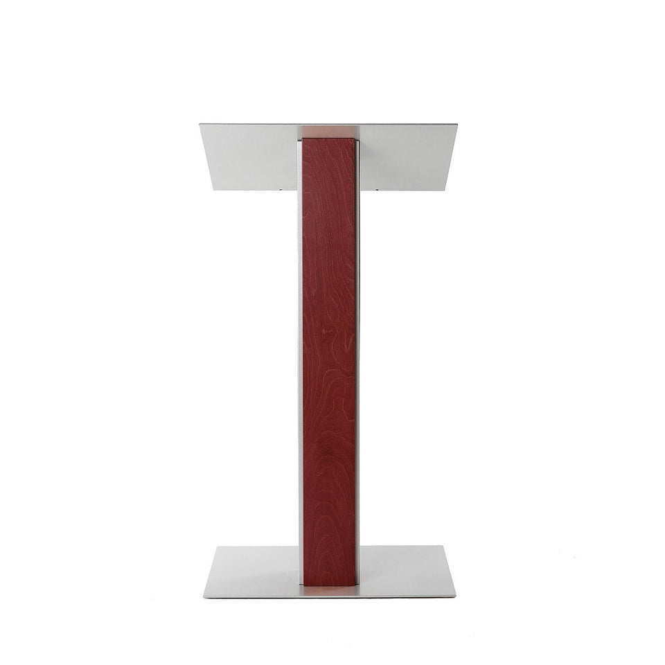 Y5 lectern / podium from Urbann Products - Mahogany - front view