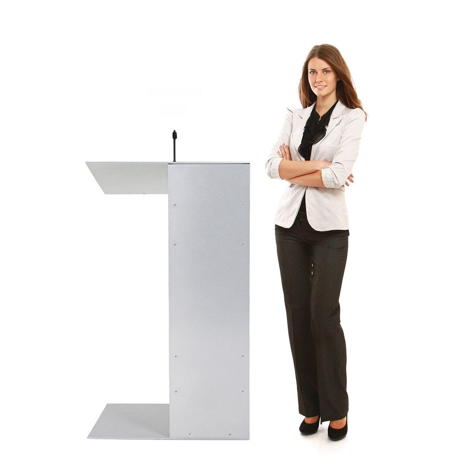 K1 lectern / podium from Urbann Products with woman