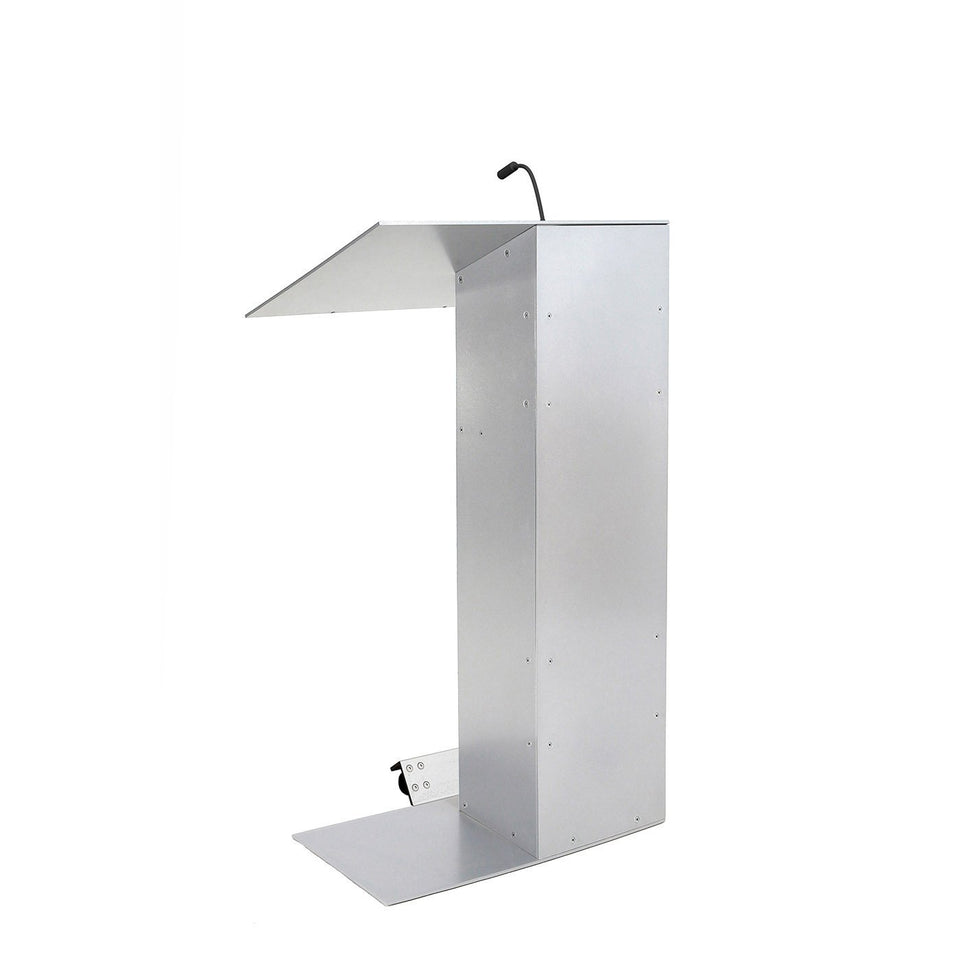 K1 lectern / podium with wheels from Urbann Products side view