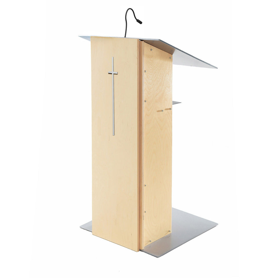 Modern X1 cross by Urbann on a K2 Natural lectern