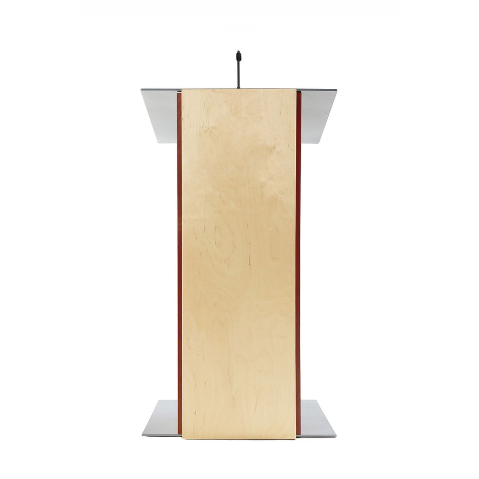 K2 lectern Mahogany / wooden podium from Urbann Products front view