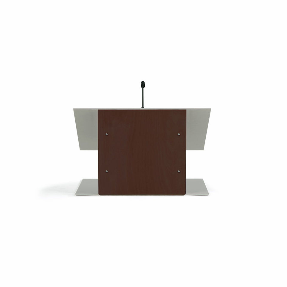 K9 Table lectern / wooden podium - Mahogany - from Urbann Products - front view