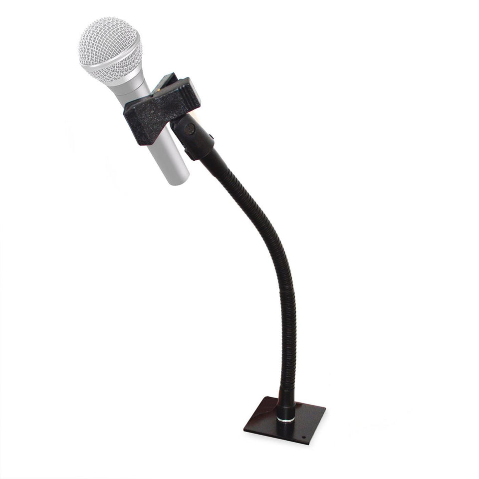 Microphone holder with wireless microphone