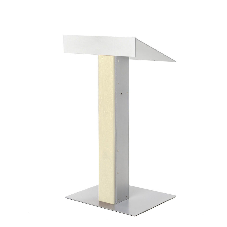 Y55 lectern / podium from Urbann Products - Unfinished - side view