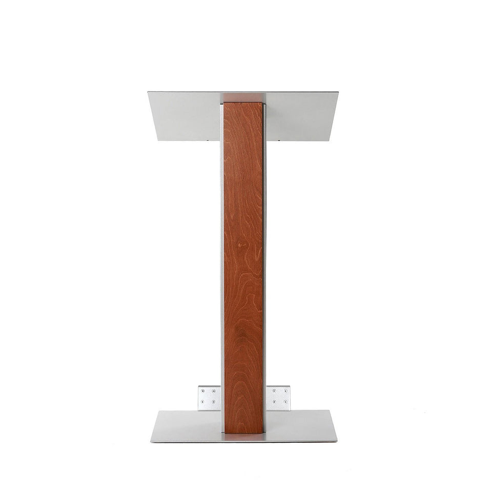 Y5 lectern / podium from Urbann Products - Whisky - with wheels front view