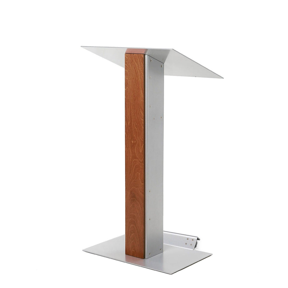 Y5 lectern / podium from Urbann Products - Whisky - with wheels side view
