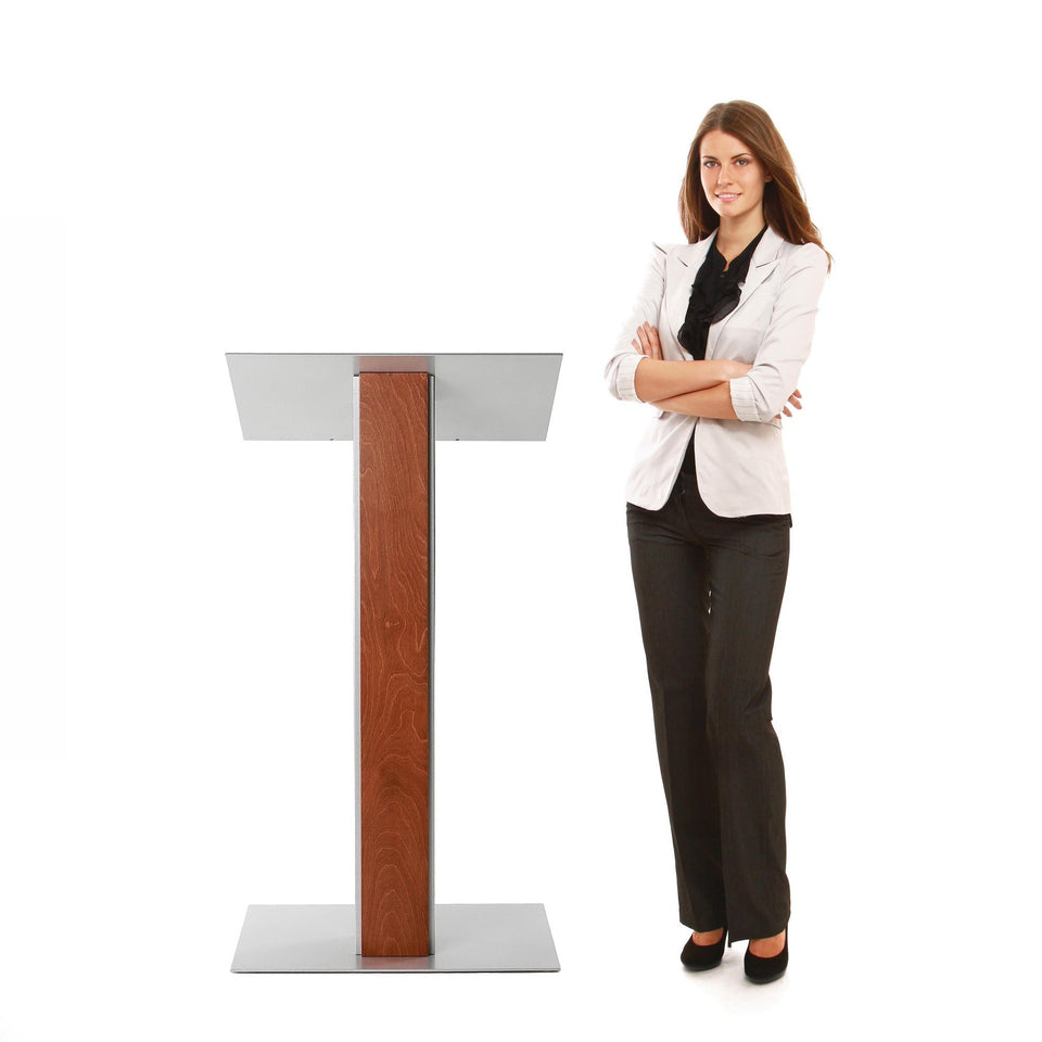 Y5 lectern / podium from Urbann Products with woman