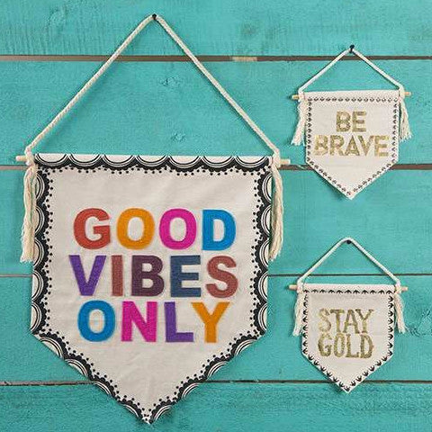 Good Vibes Only Wall Flag