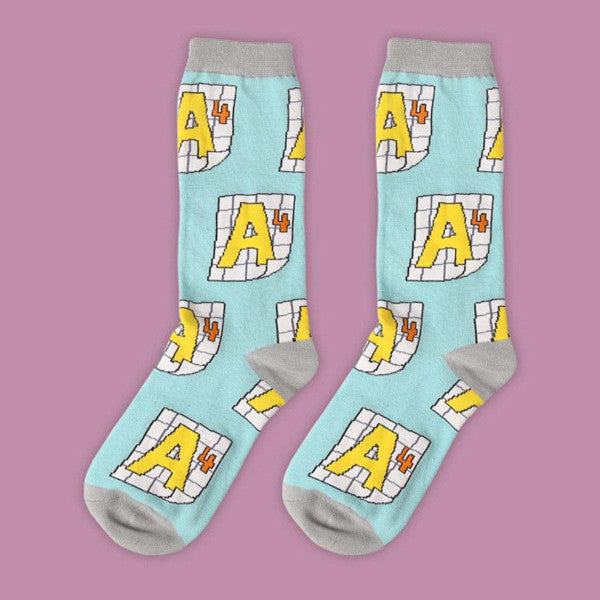 A4 graph Socks