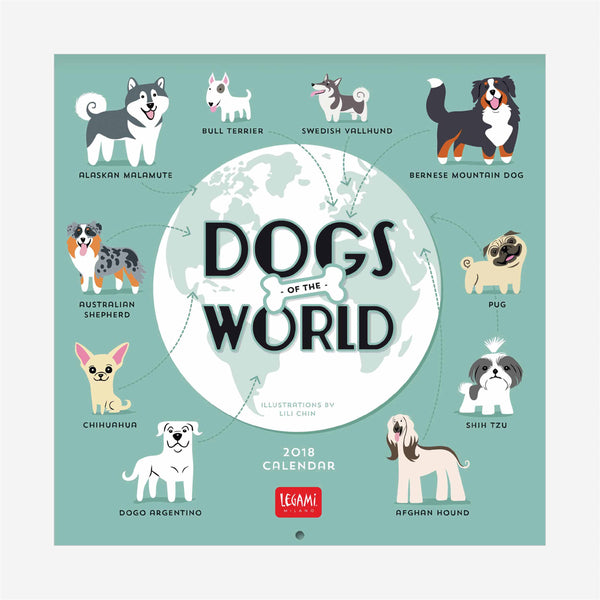 2018 Calendar - Dogs of the world