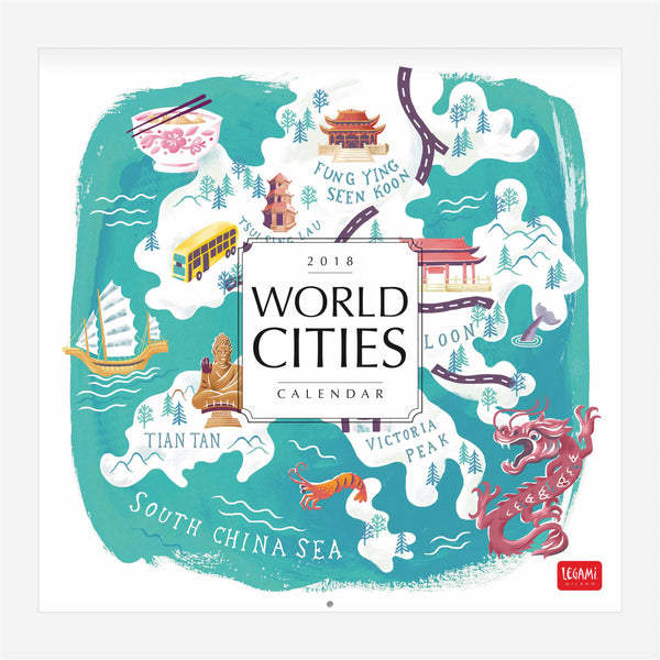 2018 Calendar - World Cities