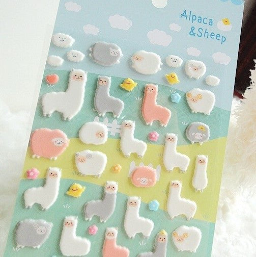 3D Alpaca and sheep stickers