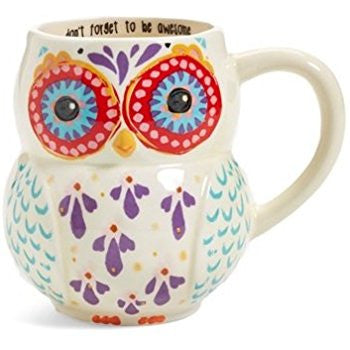 Don't Forget To Be Awesome- Folk Owl Mug