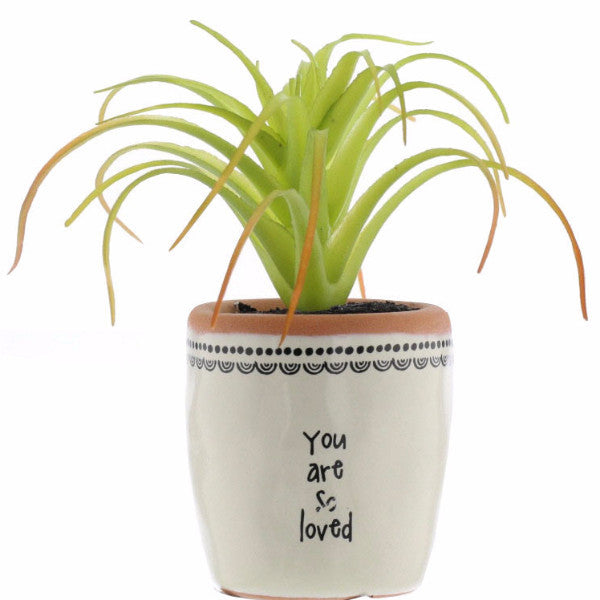 You are so loved mini faux pot plant