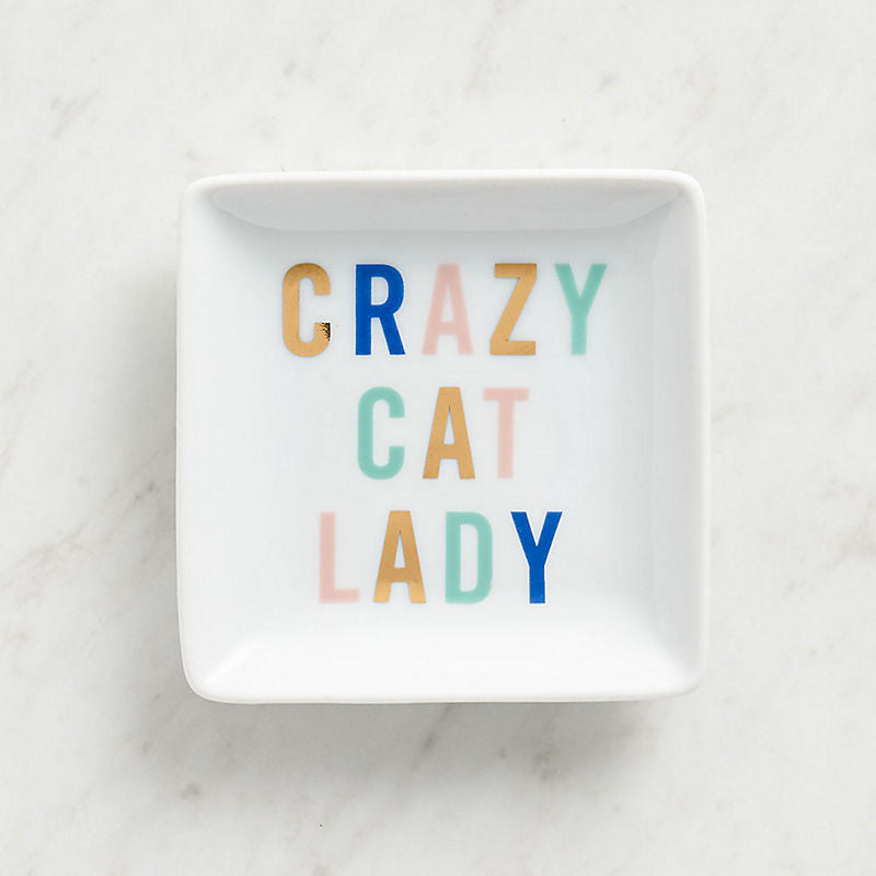 Crazy Cat Lady Square Dish