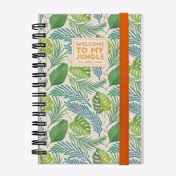 Small Weekly 2018 Diary - Jungle