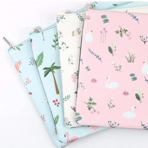 Sweet forest A5 zip pouch