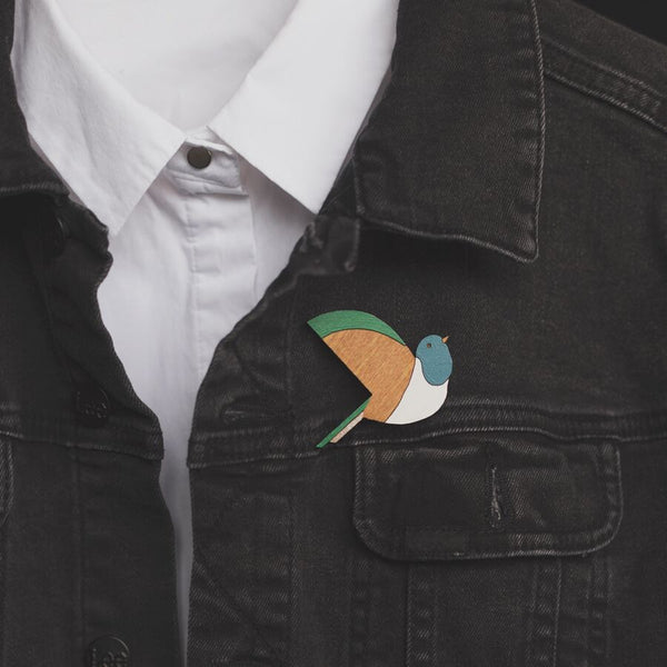 Small Kereru Brooch