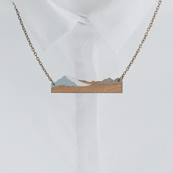 Natty Aoraki mt cook necklace