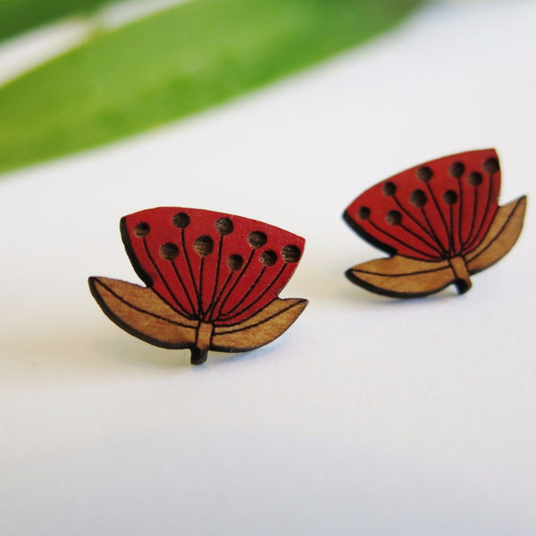 Pohutukawa Earrings