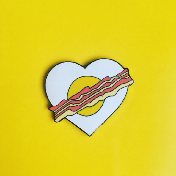 Hearty Breakfast Heart Pin