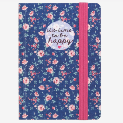 Time to be Happy Flower Notebook