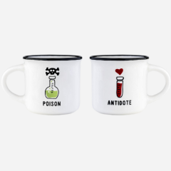 Poison and antidote mini mug duo