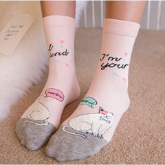 girlfriend cat socks