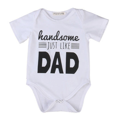 Handsome like Dad Baby Onesie