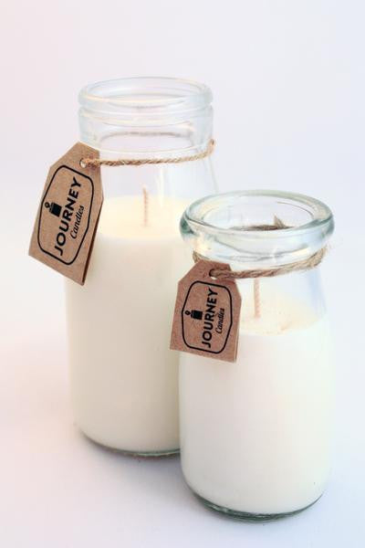 Siberian Snowflake Milk Bottle Candle