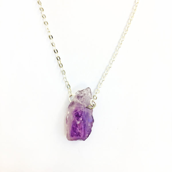 Amethyst Necklace / silver