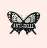 Anti Social Butterfly Pin