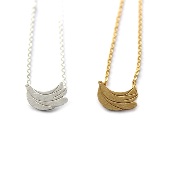 Bananas Charm Necklace- Gold & Silver
